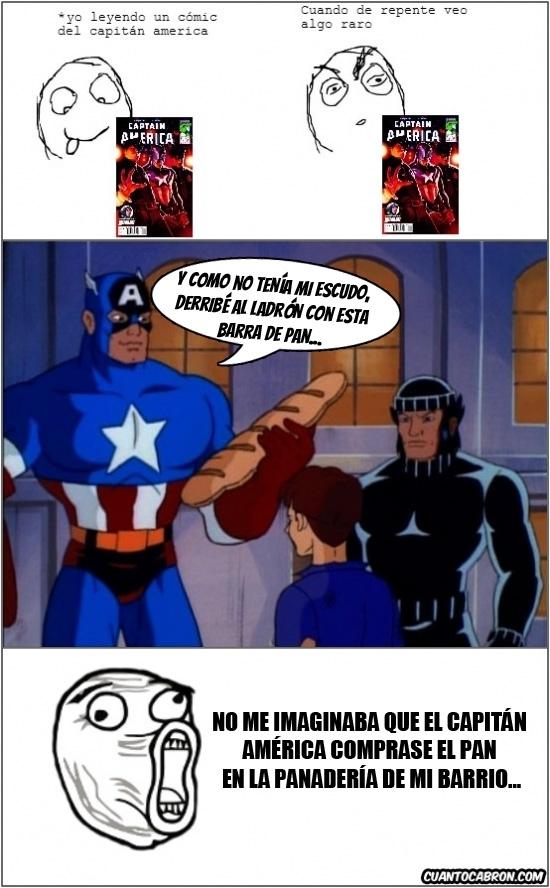 Lol - A falta de escudo del Capitán América...