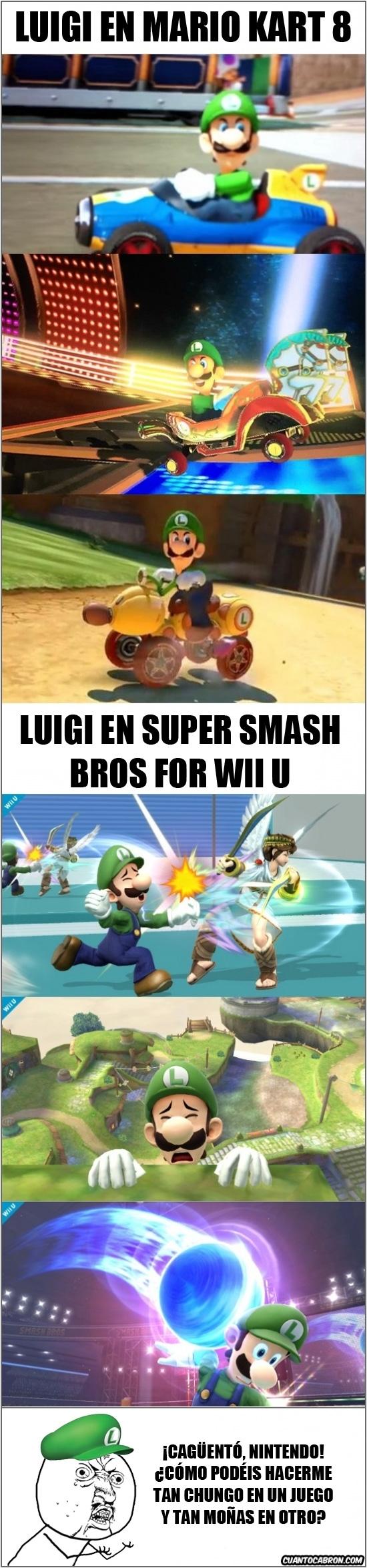 Y_u_no - Luigi cambia de actitud dependiendo de cual sea el juego