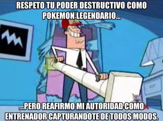 Meme_otros - Respeto por los legendarios al estilo Pokémon