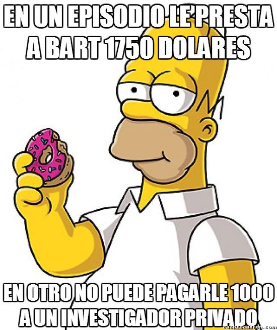 Meme_otros - Bart dejó a Homer en bancarrota