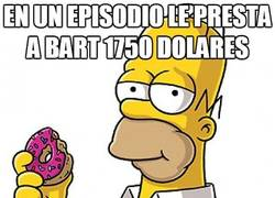 Enlace a Bart dejó a Homer en bancarrota