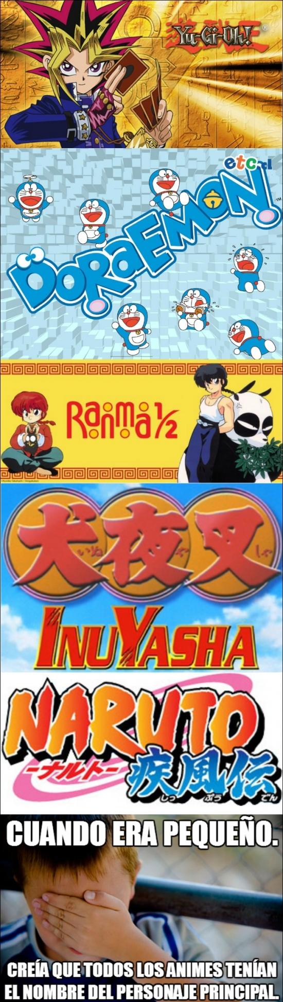 Confession_kid - Los títulos de los animes me llevaban a error cuando era pequeño
