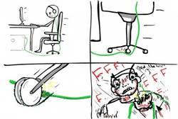 Enlace a Las sillas de oficinas, asesinas naturales de cables de auriculares