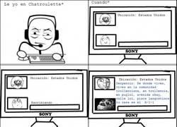 Enlace a En chatroulette, el idioma es lo primero