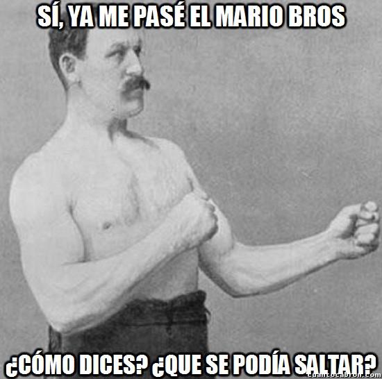 Overly_manly_man - Mario bros sin saltar