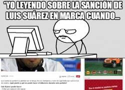 Enlace a Leyendo sobre la Sanción de Luis Suárez en Marca cuando...