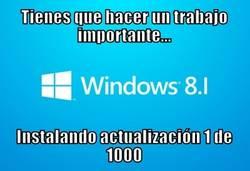 Enlace a Windows 8.1 y sus actualizaciones en el peor momento