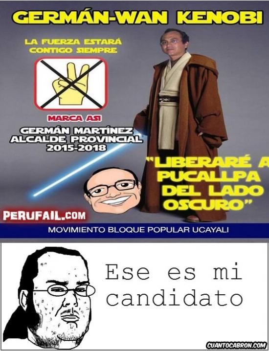 candidato,gobierno,gordo friki,obi wan kenobi,peru,político