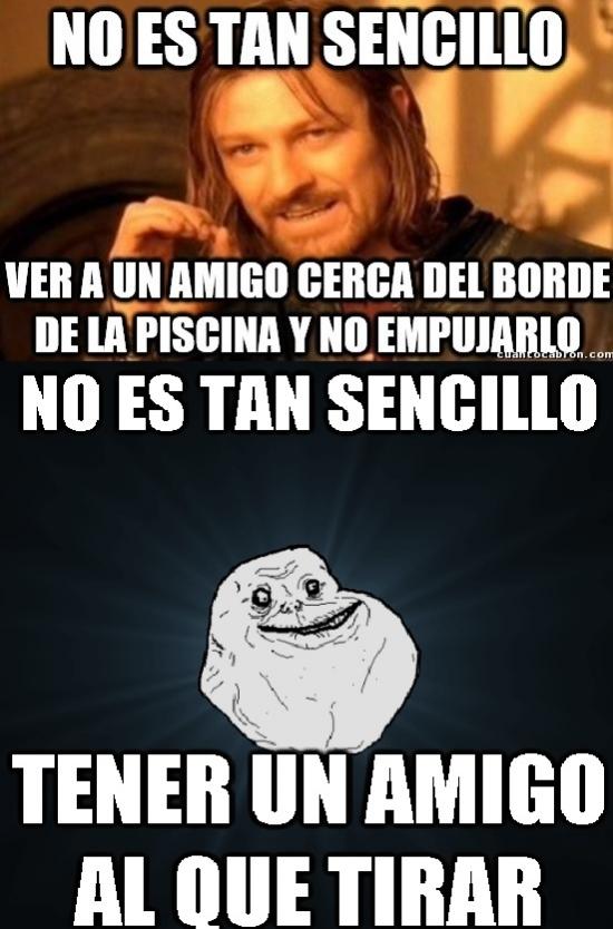 Meme_forever_alone - Verano sin amigos
