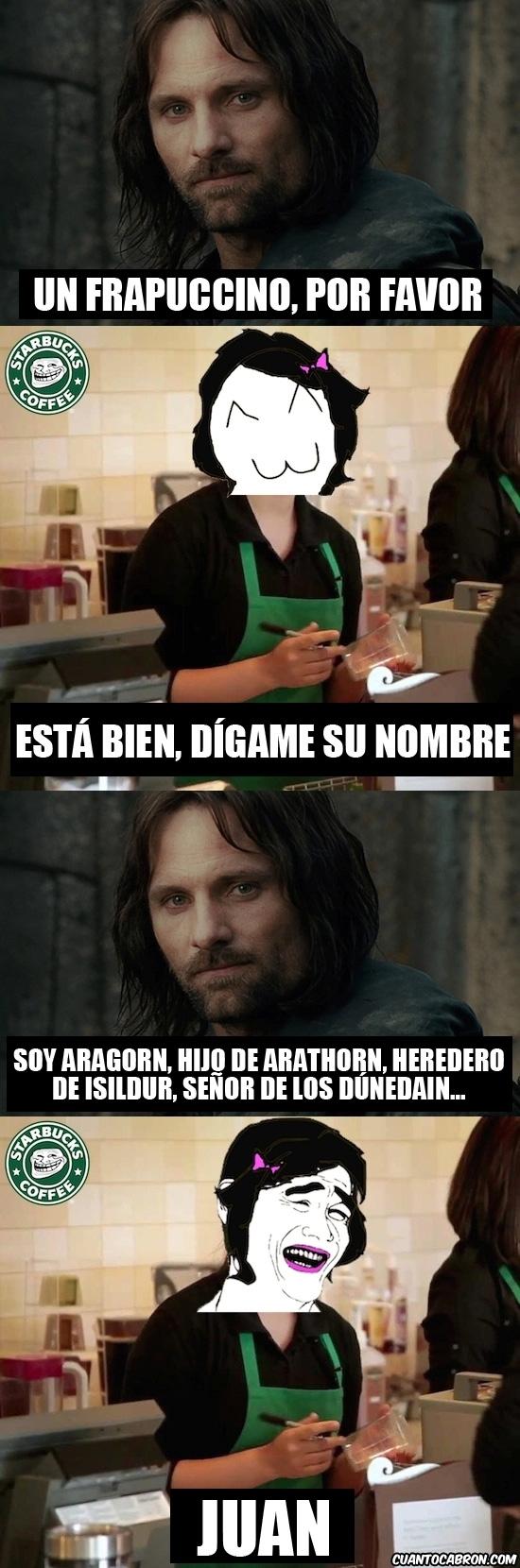 Aragorn,Cafe,Frapuccino,Starbucks coffee,Yao Ming