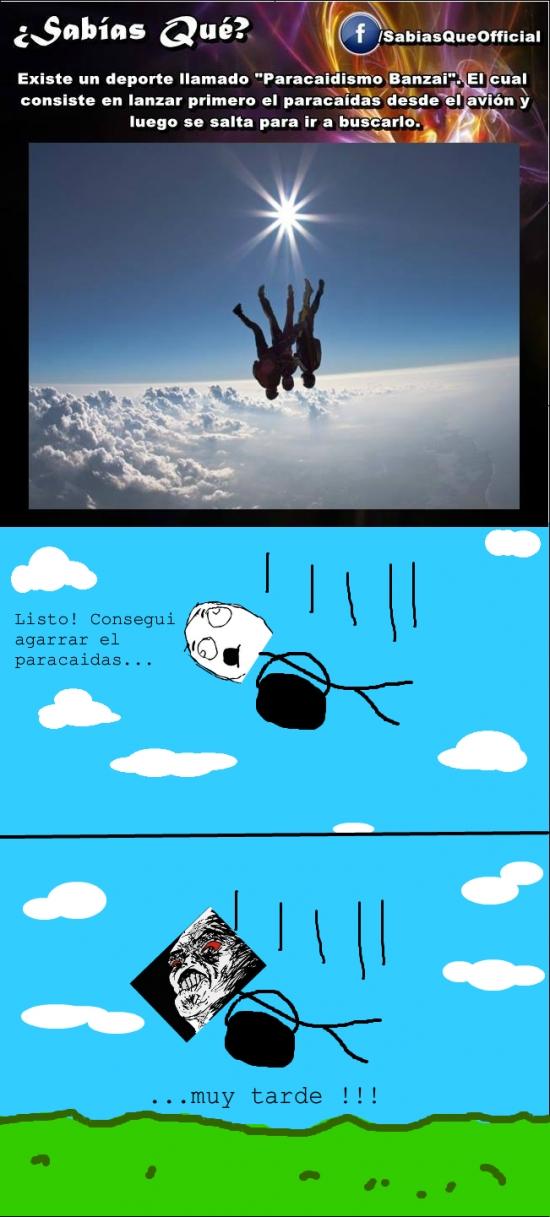 Inglip - ¿Sabes qué es el paracaidismo banzai?