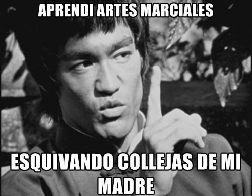 Meme_otros - Bruce Lee tuvo suerte con su madre, supongo
