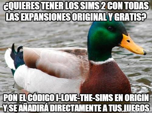 Pato_consejero - ¿Quieres conseguir Los Sims 2 gratis?