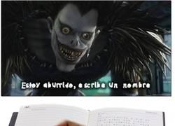 Enlace a La Death Note es efectiva contra casi todo el mundo
