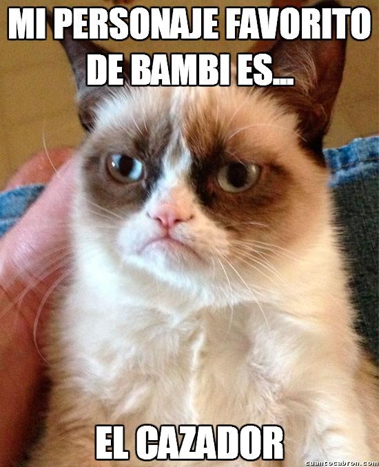 Grumpy_cat - Mi personaje favorito de Bambi