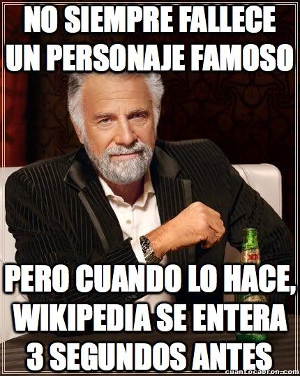 El_hombre_mas_interesante_del_mundo - Wikipedia me está empezando a dar miedo