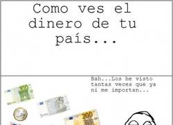 Enlace a Esa emoción al ver dinero extranjero...