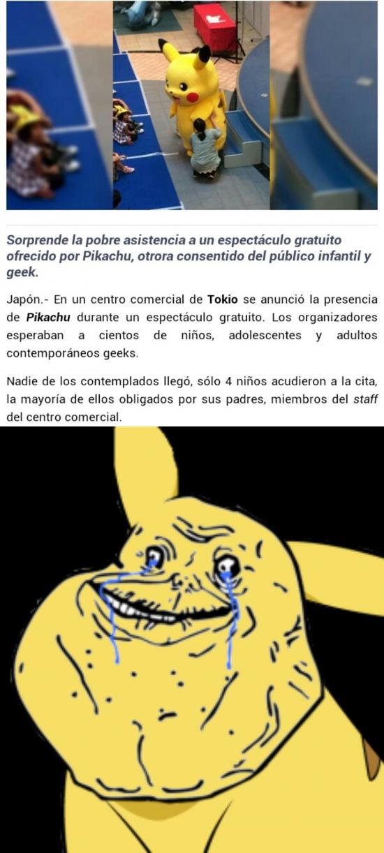 Forever_alone - Pikachu se siente algo olvidado