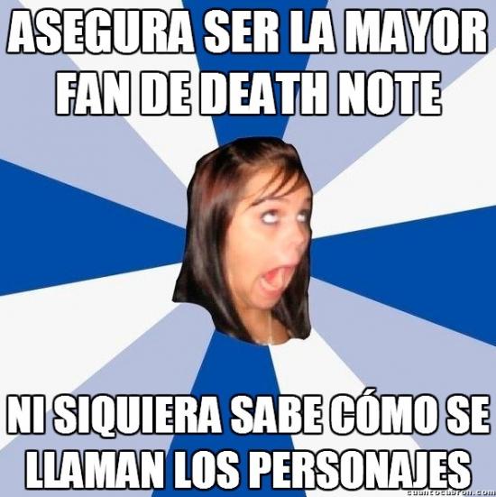 Amiga_facebook_molesta - la mayor fanatica de death note