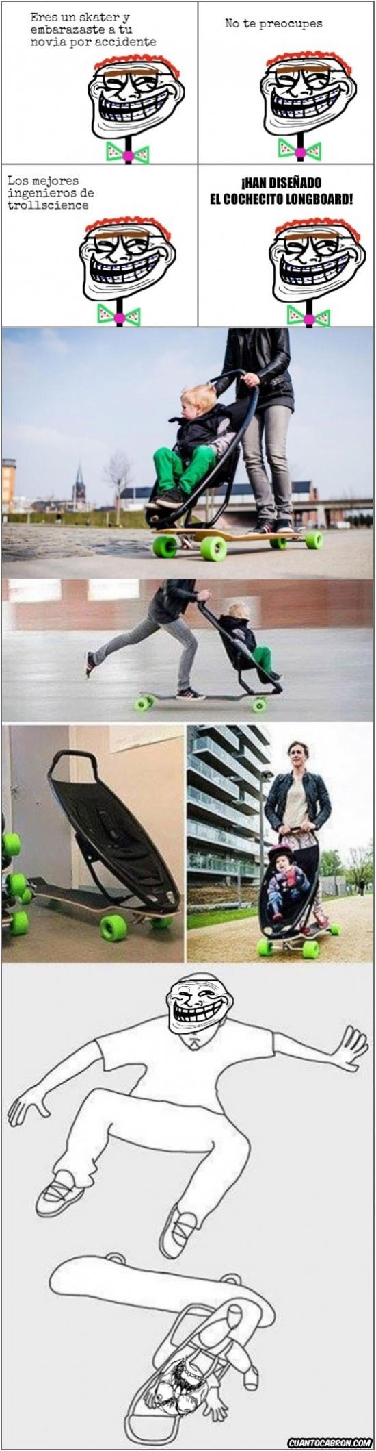 Trollface - ¿Vas a ser padre y te gusta el longboard?