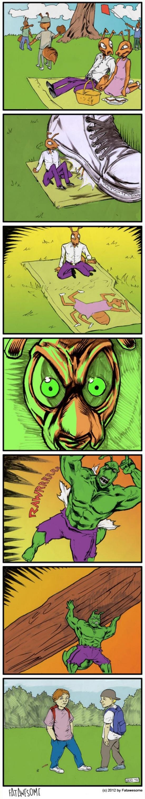 Otros - ¡No debiste hacer enfadar a la hormiga Hulk!