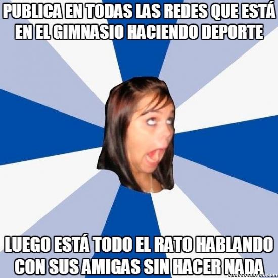 Amiga_facebook_molesta - Las típicas posers de gimnasio