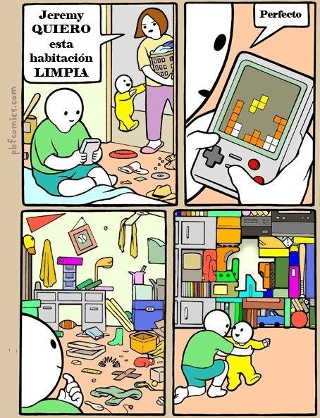 bebé,habitación,madre,ordenar,tetris