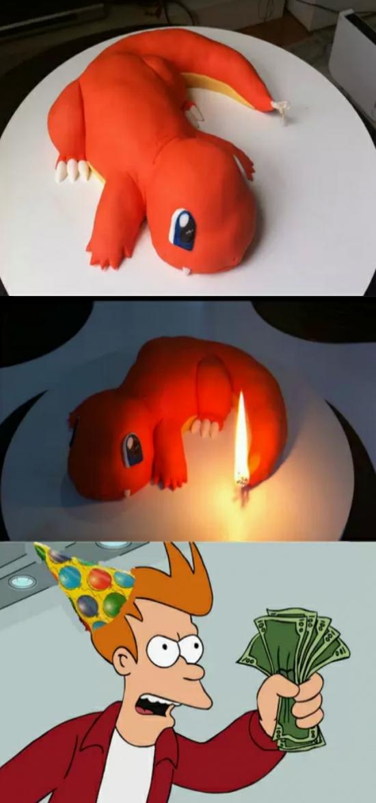 Fry - El pastel de cumpleaños que todo friki desea