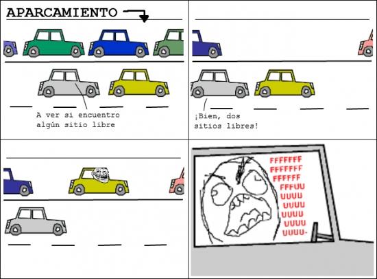 Ffffuuuuuuuuuu - Cuando aparcan en medio de dos sitios