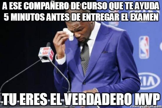 Compañero,Curso,Entregar,Examen,Kevin Durant MVP