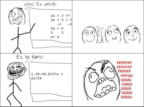Trollface - ¿Alguien sabe por qué los profesores siempre hacen esto?
