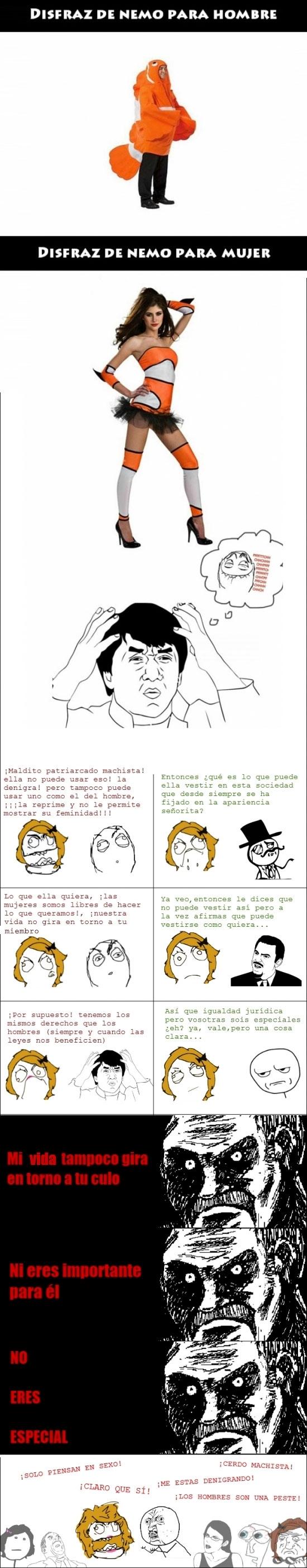 disfraz,Feminazis,machismo,true story