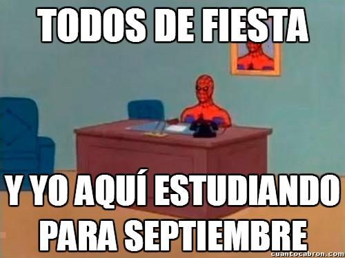 castigado,examenes,recuperaciones,septiembre,spiderman