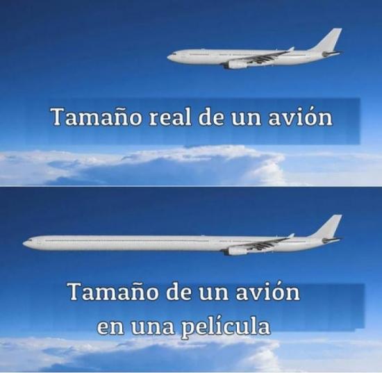 Meme_otros - Aviones en la vida real, aviones en las películas