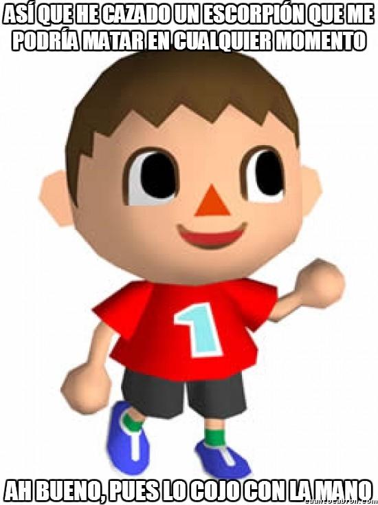 Meme_otros - La seguridad es lo primero en Animal Crossing
