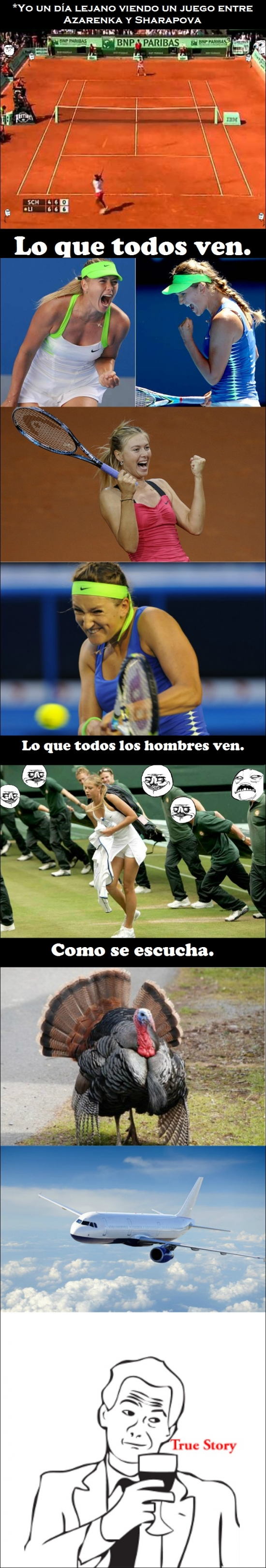 Otros - La realidad al ver un partido de tenis entre Sharapova y Azarenka