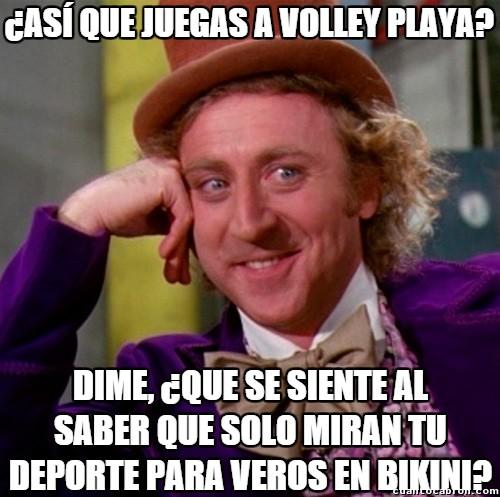 Wonka - Pobres jugadoras de volley playa