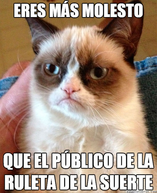 Grumpy_cat - El público de La Ruleta de la Suerte
