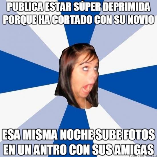 Amiga_facebook_molesta - Sí, ya vemos lo afectada que estás, bonita