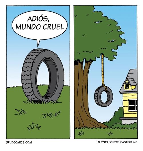 Otros - La dura vida de los neumáticos viejos