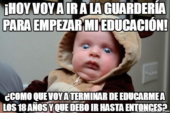 Momento_lucidez_infantil - No sabes la que te espera cuando empiezan tus estudios