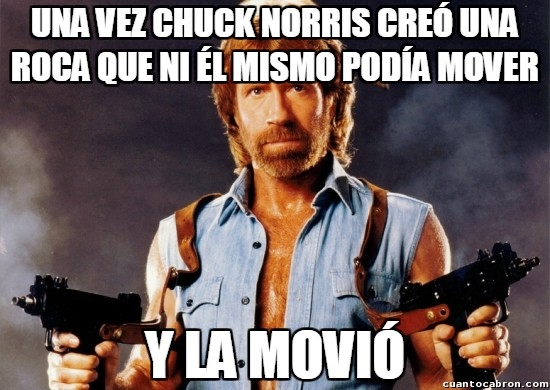 Meme_otros - El inconmensurable poder del gran Chuck Norris