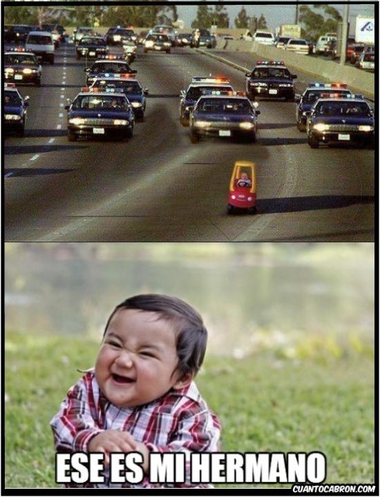 carrito,malote niño,persecución,perseguir,policía