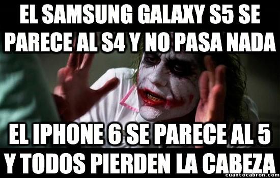 Joker - Diferencias entre Samsung y Apple