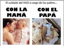 Enlace a Un padre sí que sabe cuidar a su bebé