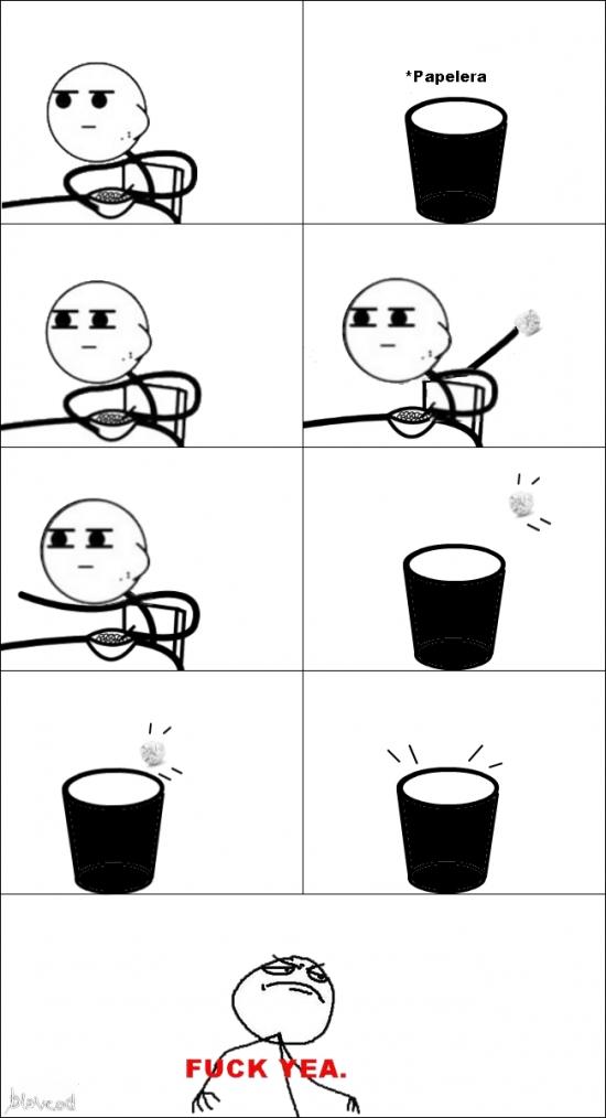 Cereal_guy - Cuando veo una papelera siempre hago esto
