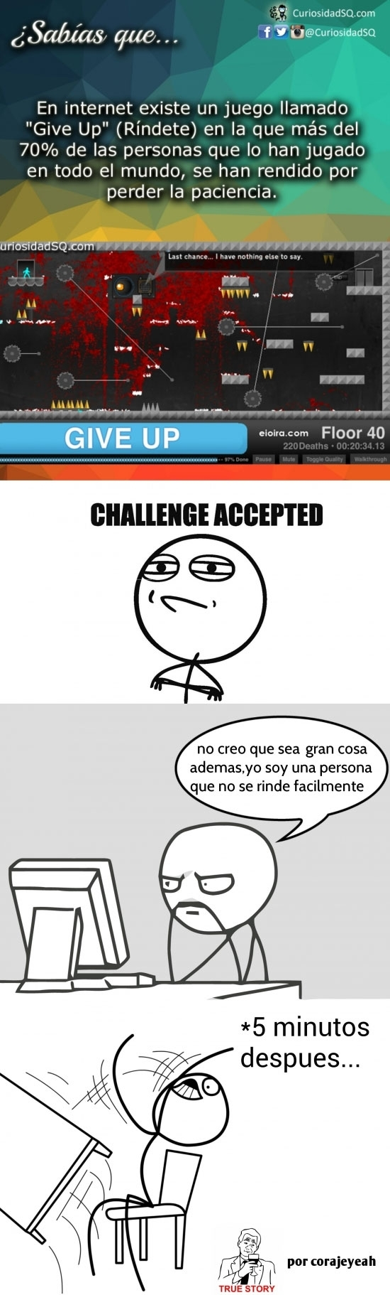 challenge accepted,computer guy,curiosidades,desk flip,give up,juego,paciencia