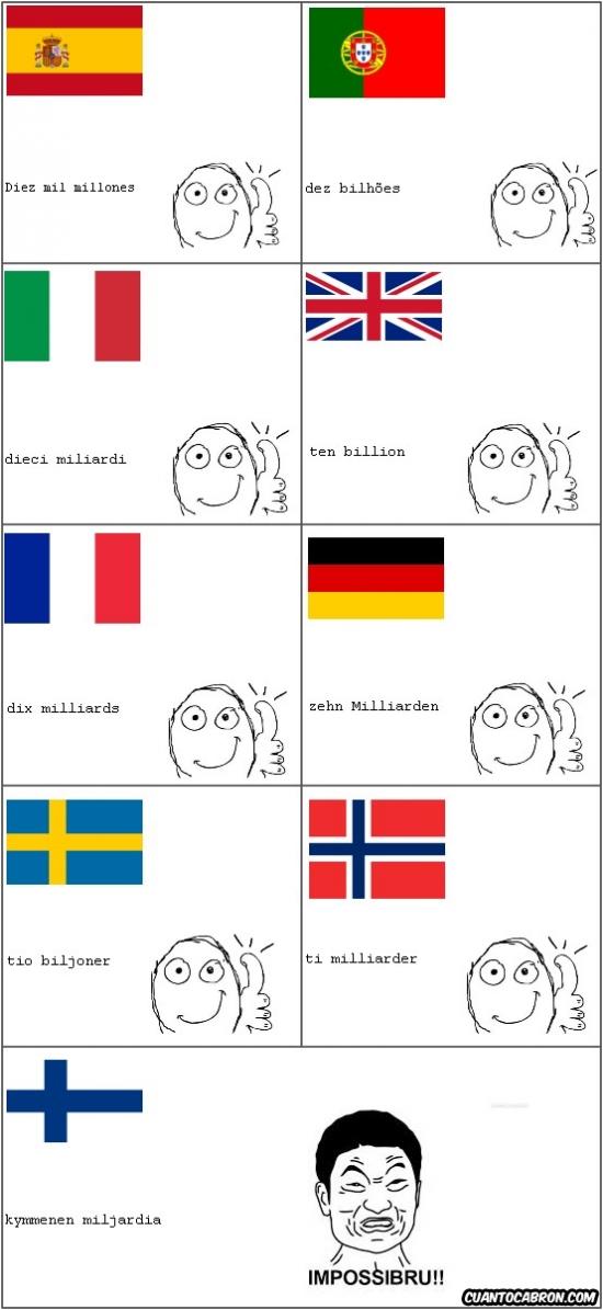 Ffffuuuuuuuuuu - Diez mil millones en 9 idiomas