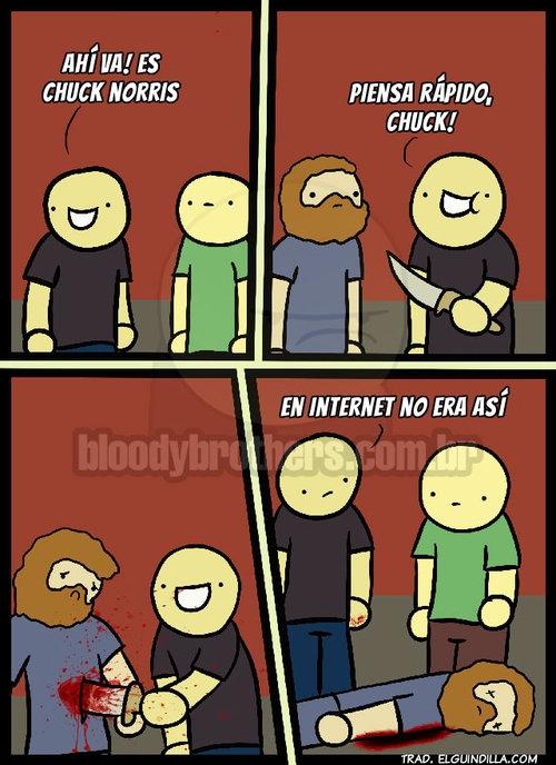 chuck norris,creer,cuchillo,intensión,internet,muerte,realidad