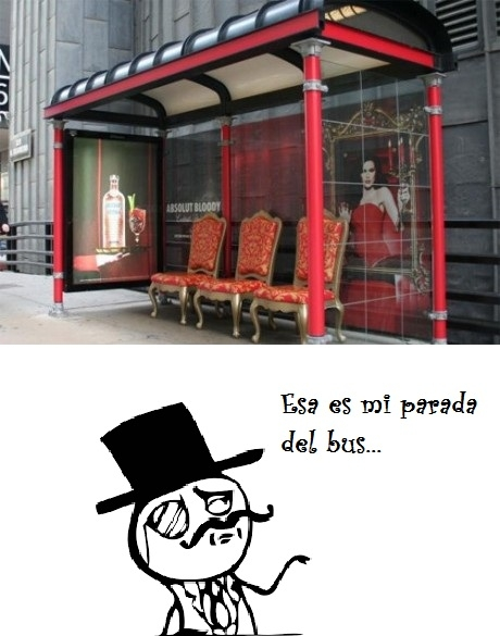 Feel_like_a_sir - Paradas de autobús con exceso de clase